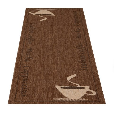 Küchenläufer Cappuccino 80x200cm - Motiv wählbar (braun)