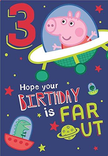 NEU Peppa Pig George Alter 3 Geburtstagskarte (Party George Supplies)