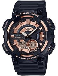 Casio Reloj Analogico-Digital para Hombre de Cuarzo con Correa en Resina AEQ-110W-1A3VEF