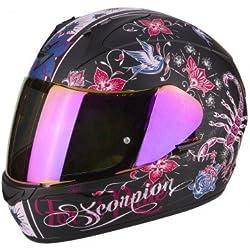 Scorpion Casco de moto Exo 390 Chica, negro/rosa, talla S