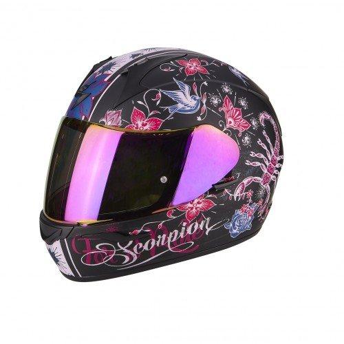 Scorpion Motorradhelm Exo 390 Chica, Schwarz/Pink, Größe L