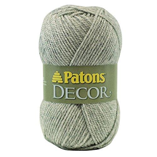 Patons Decor Garn–(4) Medium Kammgarn Gauge–100–Pale Grau–Für Crochet, stricken, &, (Kammgarn Garn Stricken)