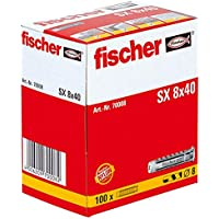 Fischer 70008 Taco nylon SX 8x40 (Envase de 100 ud.), Gris