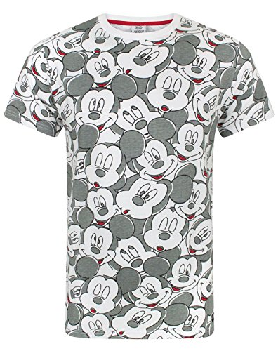 Disney Mickey Mouse Face All Over Print Men's T-Shirt (XL)