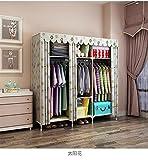 N&B Garderobe DIY Kleidung lagerung Schrank tragbares Werkzeug Organizer Schlafzimmer Schrank puppensammlung-A 150x51x180cm(59x20x71)