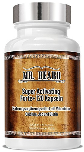 Bart Wachstums Mittel - Beard Super Activating Forte+ 120 Cellulosekapseln