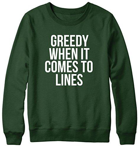 Greedy lorsque les lignes de cocaïne Pull Unisexe Vert - Forêt
