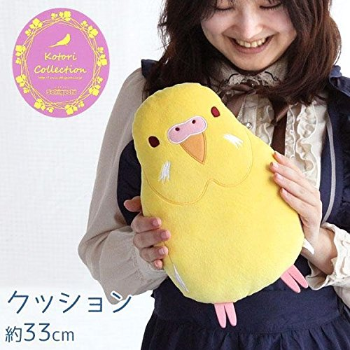 soft-and-downy-bird-stuffed-plush-type-medium-size-cushion-bird-collection-series-budgerigars-yellow