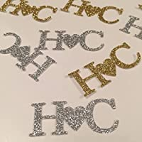 Personalised initial love confetti. 30 Pieces. Initial. Letter confetti. Glitter confetti, lovely table decor, customize birthday. Engagement party