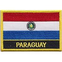 Bandera de Paraguay bordados remiendo Rectangular Badge/hidromorfona o hierro EN - Diseño exclusivo de