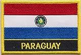 Bandera de Paraguay bordados remiendo Rectangular Badge/hidromorfona o hierro EN - Diseño exclusivo...