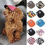 wuayi TAILUP Small Pet Casual Summer Canvas Cap Dog Baseball Visor Hat Puppy Outdoor Sunbonnet Cap (S, B) 5