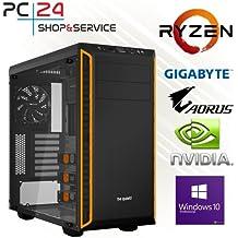 PC24 GAMER PC | AMD Ryzen 7 1800X @8x3,80GHz | 500GB Samsung M.2 960 | nVidia GF GTX 1080Ti mit 11GB RAM | 16GB DDR4 PC2133 RAM G.Skill | Gigabyte AORUS GA-AX370-Gaming K5 | Windows 10 Pro | Gaming PC