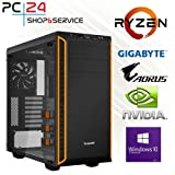 PC24 GAMER PC | AMD Ryzen 7 2700X @8x4,00GHz | 500GB Samsung M.2 970 | nVidia GF GTX 1080Ti mit 11GB RAM | 16GB DDR4 PC2666 RAM G.Skill | Gigabyte X470 AORUS ULTRA GAMING | Windows 10 Pro | AMD Gaming PC