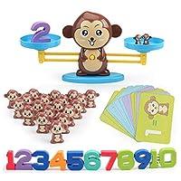 SIRIGOGO Rolling Monkey Balance Toy, Digital Addition and Subtraction Game Intelligence Test Puzzle Monkey Balance Game Scale Early Learning Weight Child Kids Intelligence Toys