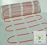 BodenWärme Fußbodenheizung Matte + Thermostat. * ALLE Größen * Heizung Elektro, Einbau unter Boden-Fliesen. 150W/M²