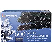 The Christmas Workshop 600 LED Chaser String Lights, Bright White