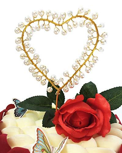 SONSMER Gold Weiß Perle Hochzeit Twinkle DIY Glitzer ersten Geburtstag Cupcake Topper Kuchen Smash Kerze Alternative Party Handarbeit