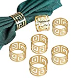 Yalulu 12 Stück Serviettenringe Servietten Halter Banquet Serviette Ring Dinner Hochzeits Weihnachten Dekoration Tischdeko (Gold)
