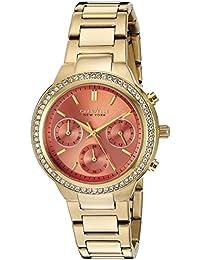 Caravelle New York 44l218analógico reloj de oro de cuarzo de la mujer