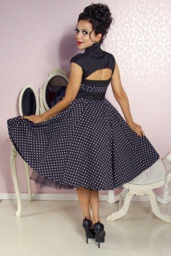 Chic Star Vintage Rockabilly-Kleid Damen schwarz-weiß Kleid - 3