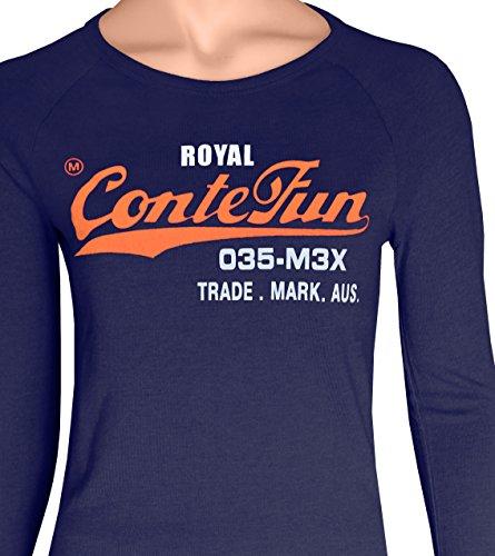 M.Conte Signore T-Shirt Manica Corta T-Shirt Sudore Neon Rosa Viola Grigio Blue Rose Rosso Verde Nero S M L XL Colore Dark Night Blau