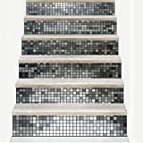 Treppenaufkleber Mosaikfliesen Muster Treppenaufkleber Abziehbilder Kinder Liebe Abnehmbare Wasserdichte Treppe Vinyl Aufkleber Für Wohnkultur Wandaufkleber