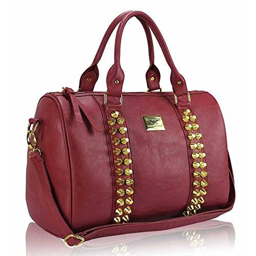 TrendStar Damenmode Obergriff Schulterhandtaschen Kunstleder Für Taschen Von Promi-Stil Rot