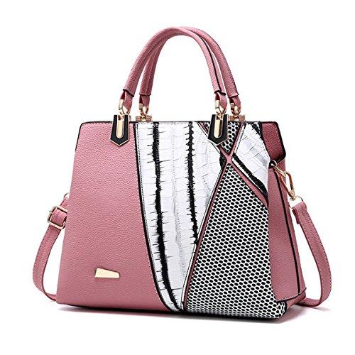 f33ac4117d6d OURBAG Crocodile Pattern Women Top Handle Satchel Handbags Tote Purse Pink  - Buy Online in Oman.