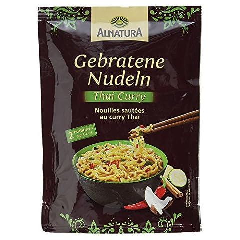 Alnatura Bio Gebratene Nudeln Thai Curry, 6er Pack (6 x 125 g) (Thai Nudeln)