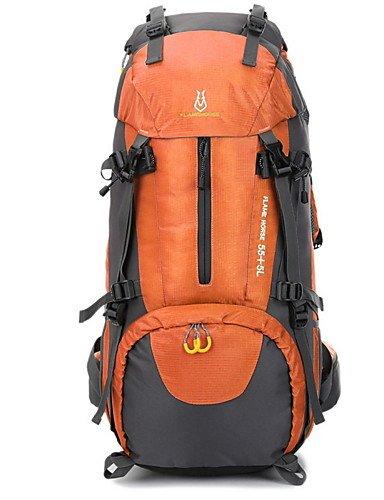 ZQ 65L L Tourenrucksäcke/Rucksack Camping & Wandern / Klettern Draußen Multifunktions Grün / Schwarz / Blau / Orange Nylon No Black