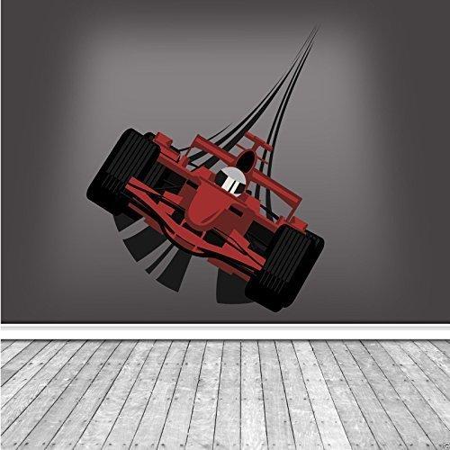 Wall Smart Designs Full Farbe F1Racing Car Art Wand Aufkleber Aufkleber Wandbild Jungen Schlafzimmer Transfer wsd220 (Racing Wandbild)