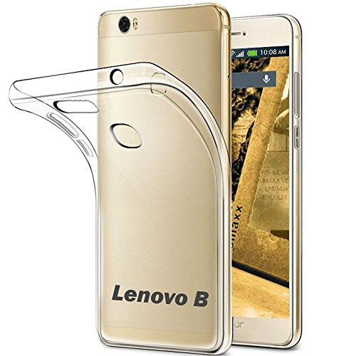 tomaxx Lenovo B Ultra Slim Hülle - Schutzhülle Silikon Case Tasche - transparent Durchsichtig