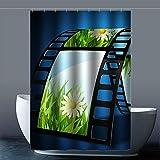 Brauch Camera Kamera Dusche Vorhang Shower Curtain Wasserdicht Polyester Fabrik für Bad 120...