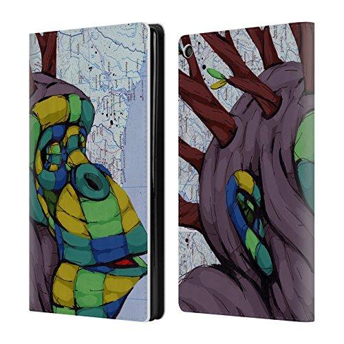 Head Case Designs Offizielle RIC Stultz Neugeist-Bewegung Tiere Brieftasche Handyhülle aus Leder für Amazon Fire HD 8