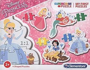 Clementoni My First Puzzle-Princess-3-Blanco-12Unidades, Multicolor, 20813