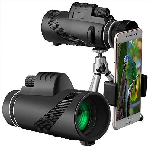 FairOnly 40X60 HD Monokulares Tag und Nachtsichtgerät Dual Focus Teleskop Prismenbereich - Dual-nachtsichtgerät
