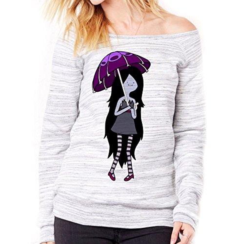 Felpa Fashion MARCELINE LA VAMPIRA - FILM by Mush Dress Your Style - Donna-XL-Grigio marmorizzato