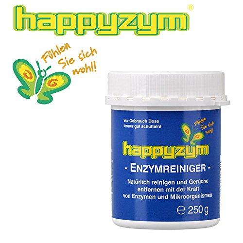 Happyzym Enzymreiniger und Geruch-Entferner ohne Duft - reinigt und beseitigt Gerüche (Katzenurin, Hunderurin und alle anderen Tiergerüche) durch Enzyme und Mikroorganismen 250g Dose