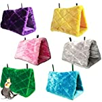 Beauty*Top*Picks Bird Toy Plush Parrot Hammock Hanging Cave Cage Snuggle Soft Hut Tent Bed Bunk 6
