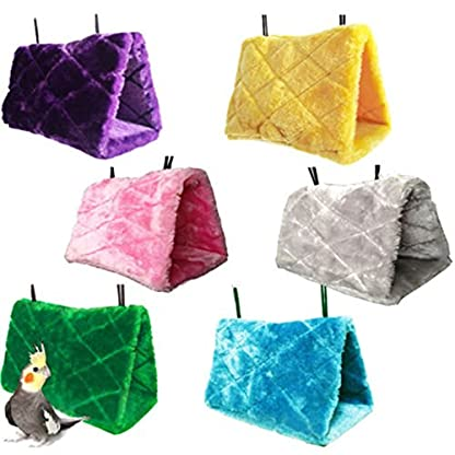 Beauty*Top*Picks Bird Toy Plush Parrot Hammock Hanging Cave Cage Snuggle Soft Hut Tent Bed Bunk 3
