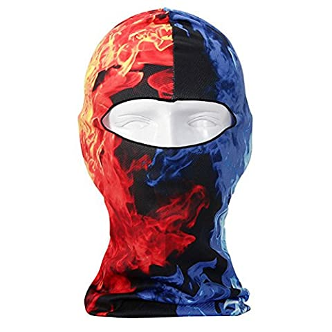 Stylish 3D Animal Printing Full Face Mask Ski Hood Hat Swimming Fast Dry Balaclava UV Protect Full Face Mask Headgear Head and Neck Cover for Outdoor Sports Bicycle Cycling Motorcycle (ST05)