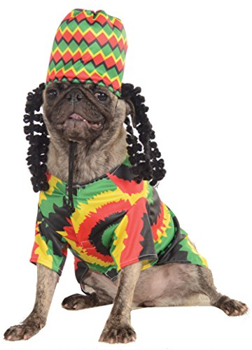 Rasta Kostüm Dreads - Rasta Big Dog Boutique, Small, grün