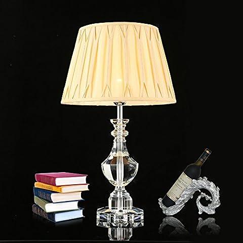 FDH  Villa de lujo compuesto lámpara de cristal salón dormitorio la lámpara de la mesilla de noche continental de cristal importadas de alta calidad lámpara de mesa, 630*405mm