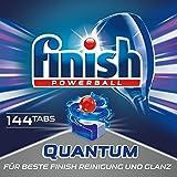 Finish Quantum Quartalspack, Spülmaschinentabs für 3 Monate, Gigapack, 144 Tabs