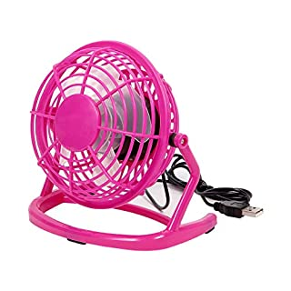 Alsino USB-Tischventilator Pink 'Stürmchen im Büro' Schreibtischventilator Ventilator Kraftvoll, fleißig & leise für Büro - Neigbar mit An/Ausschalter - 15 cm groß