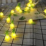 Kingko Solar LED Ananas, 20 LED Warmweiß Außen Wasserdichte lichterkette Dekorative für Garten, Party, Hochzeit, Haus,Fest Deko Beleuchtung (Warmes Weiß) (gelb)