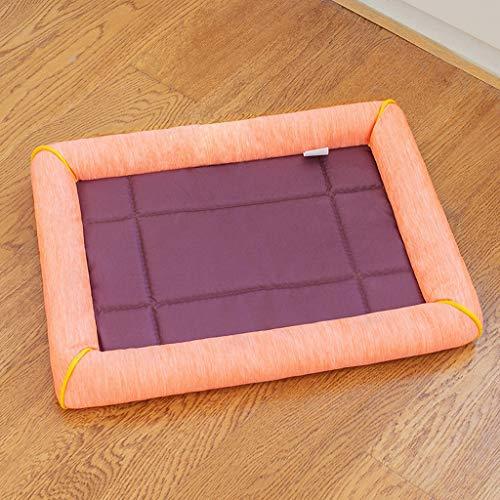 Hundebox Pad - abwaschbar Kennel Pads Matte Anti-Rutsch-Matratze Haustier-Bett-Pads for Groß/Mittel/Klein/Hunde & Katzen Schlafen (Color : Orange, Size : M) -