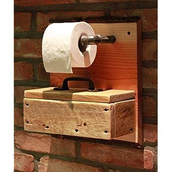 toilettenpapierhalter wc papier rollenhalter holz box fuer feuchttuecher k che. Black Bedroom Furniture Sets. Home Design Ideas