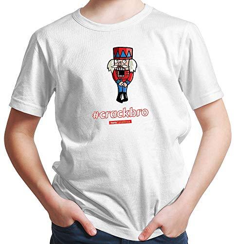 HARIZ  Jungen T-Shirt Pixbros Crackbro Xmas Weihnachten Kinder Familie Liebe Inkl. Geschenk Karte Rot 104/3-4 Jahre